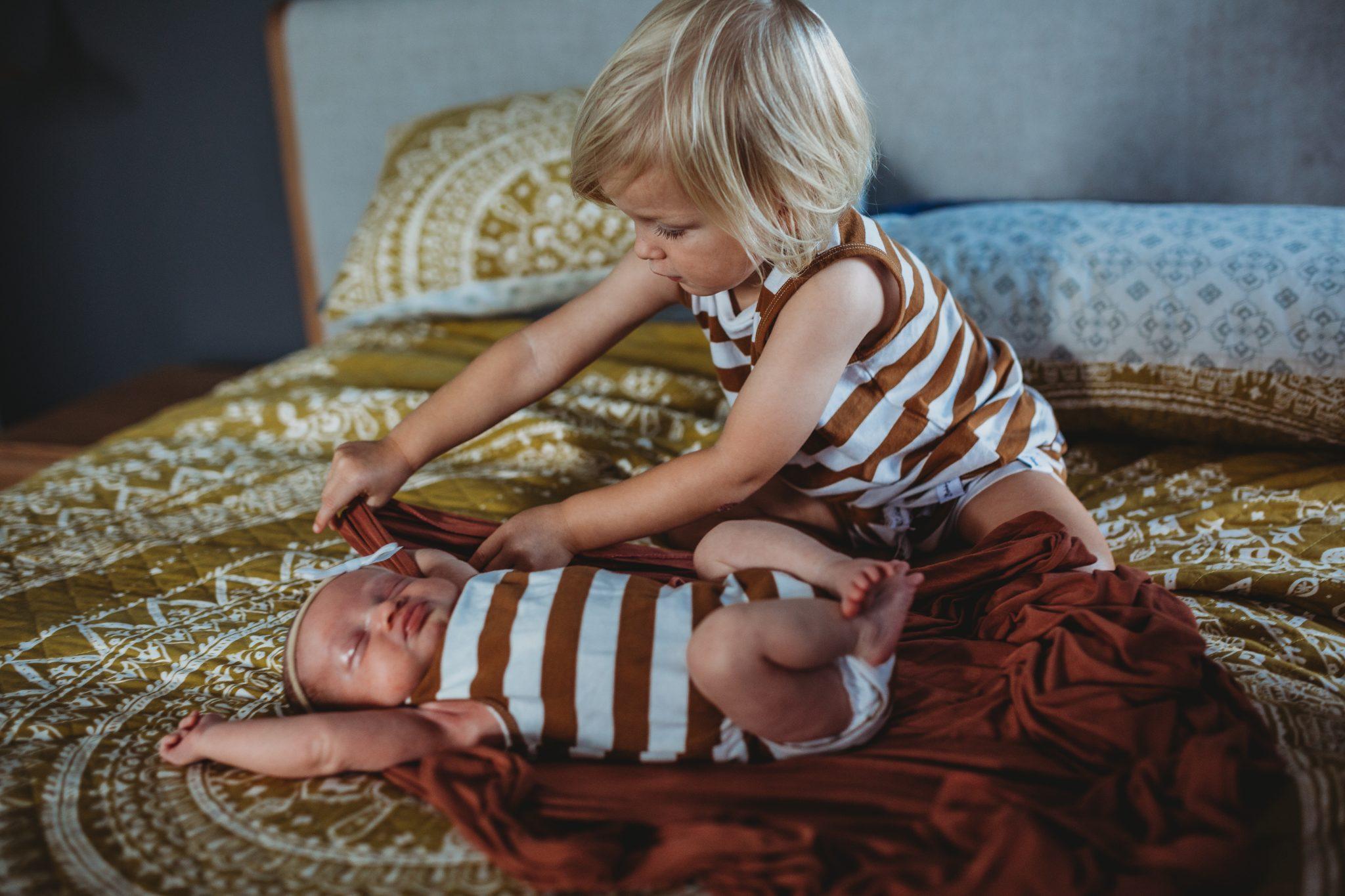 Newcastle family photographer newborn inhome session