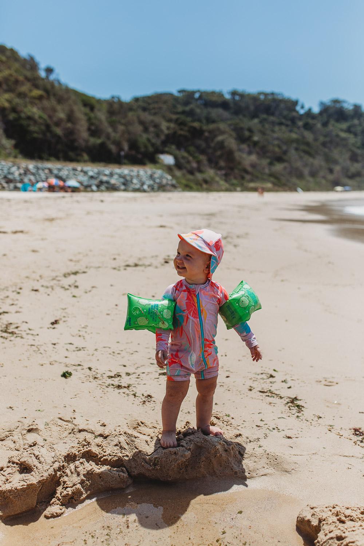 Newcastle family photographer beach summer holiday