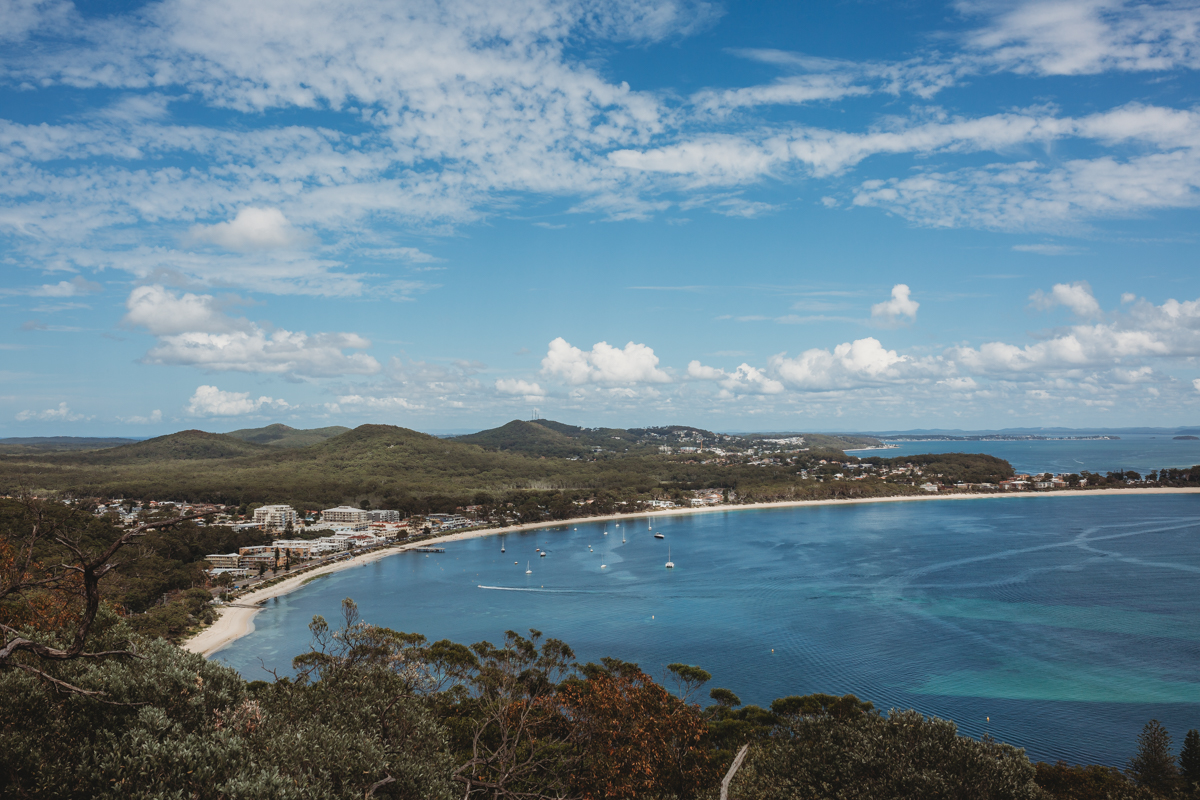 View of Shoal Bay from Mt Tomaree