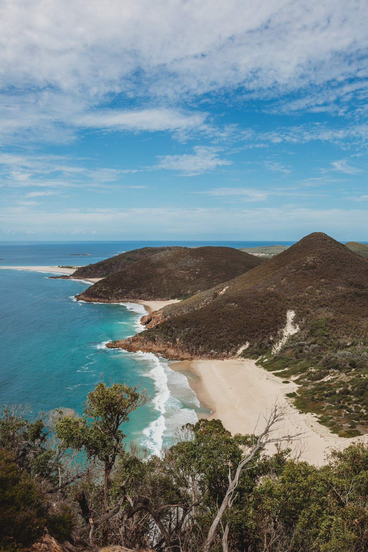 View of Zenith Beach from the top of Mt Tomaree