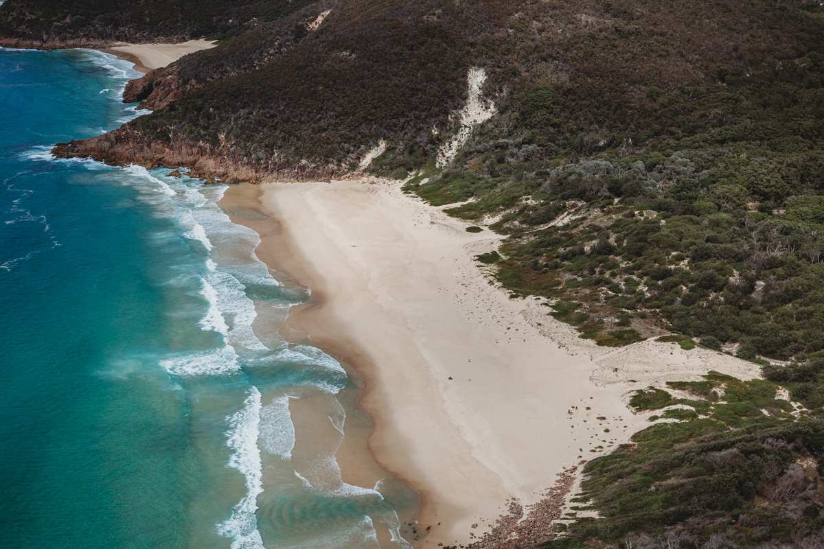 View from above of Zenith Beach from Mt Tomaree lookout